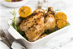Garlic and Lemon-Roasted Chicken with Sweet Potatoes