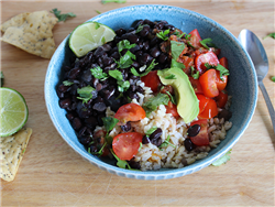 Latin-Style Black Beans and Rice