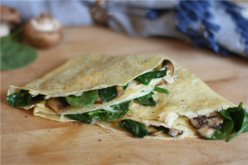 Spinach and Mushroom Crepes