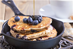 Blueberry-Nutmeg Whole Wheat Pancakes