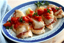 Chicken with Plum Tomato and Prosciutto