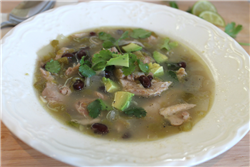 Green Chile and Lime Chicken Stew