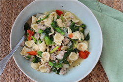 Orecchiette with Italian Sausage and Rapini