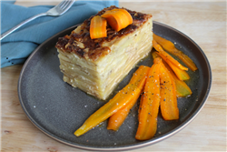 Potatoes Gratin with Glazed Carrots