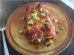 Sweet Potato and Black Bean Enchiladas